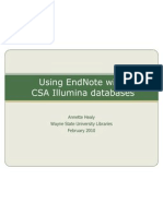 EndNote CSA Illumina Database Import