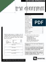 Maytag MSD2757AEW Refrigerator Owners Manual