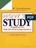 Arthur Kornhauser - How to Study