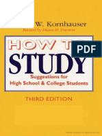 Arthur Kornhauser - How to Study