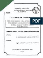 NIVEL DE CONOCIMIENTO SOBRE AUTOEXAMEN DE MAMAS EN MUJERES QUE ACUDEN A CONSULTA EXTERNA DEL HOSPITAL REGIONAL VIRGEN DE FÁTIMA, CHACHAPOYAS 2013.pdf