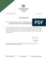 Notification & Procedure