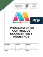 P-SSM-01 Procedimiento Del Control de Documentos y Registros