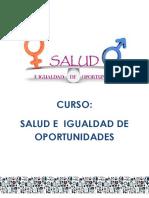 Diptico Salud e Igualdad de Oportunidades