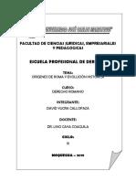 Monografia Origenes de Roma y Evolución Histórica - David Yucra