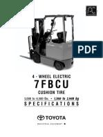 150-3109 - Toyota 7FBCU25 Elec