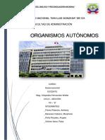 ORGANISMOS AUTÓNOMOS DEL PERU