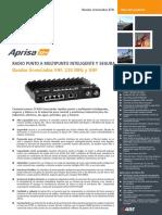 Aprisa SR+ Datasheet ETSI Spanish