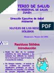 Modulo Sistemas de Manejo de Residuos Sólidos