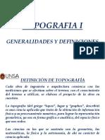 Topografía i Unidad 1 1 Generalidades