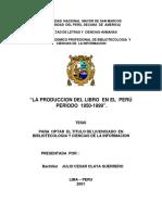 La Producción Del Libro en El Perú