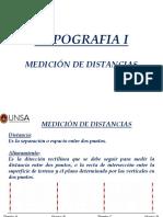 Topografía i - Unidad 2-1 Medición de Distancias