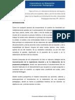 Historizar La Formación Del Maestro, Relaciones Entre Preocupaciones, Saber y Acción Docentes