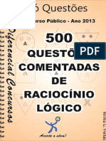 (apostila) 500 questoes de Raciocinio Logico.pdf