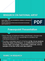 Research on National Artist