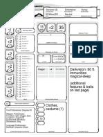Lunella Harpwood (D&D Character Sheet)