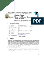 Sílabo de Taller de Investigacion I Maestria Sede Tayacaja