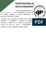 Comicion Nacional de Bancos y Sehuros de Honduras