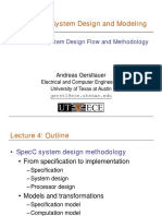 Embedded System Design Methodology