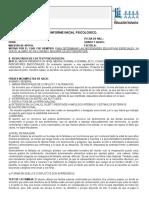 Ducacion Especial Ejemplo Informe Psicologico 2012
