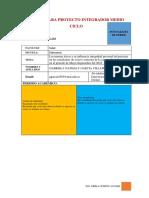 Matriz Para Proyecto Integrador Medio Ciclo