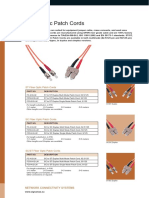 Datasheet Signamax Fiber Optic Patch Cord
