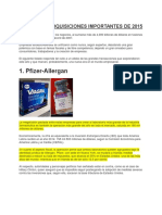 Fusiones y Adquisiciones Importantes de 2015