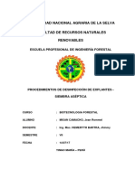 Procedimientos de Desinfección de Explantes -Siembra Aséptica