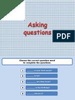 Asking Questions Grammar Drills 75392