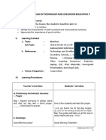 Detailed Lesson Plan in Technology and Livelihood Education i