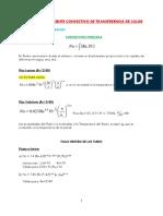 Cálculo de Coeficiente Convectivo de Transferencia de Calor
