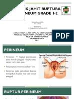 Teknik Jahit Perineum Grade I-II