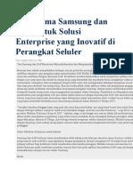 kerjasama Untuk Solusi Enterprise Yang Inovatif Di Perangkat Seluler