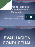 Evaluacion conductual