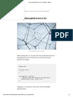 Domain (Decoupled) Errors in Go – Devthoughts – Medium