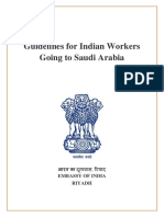 Guidelines for Indian Workers Going to Saudi Arabia