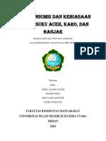 Pola Konsumsi Dan Kebiasaan Makan Suku Aceh, Karo, Dan Banjar