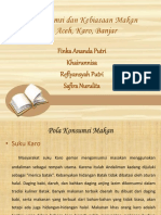Pola Konsumsi Dan Kebiasaan Makan Suku Aceh, Karo, Banjar