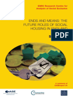 Ends and Means the Future Roles of Social Housing in England 2