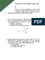 Practice Problems (Ideal Fluid)
