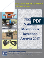 NRDC National Meritorious Invention Awards Citation 2017