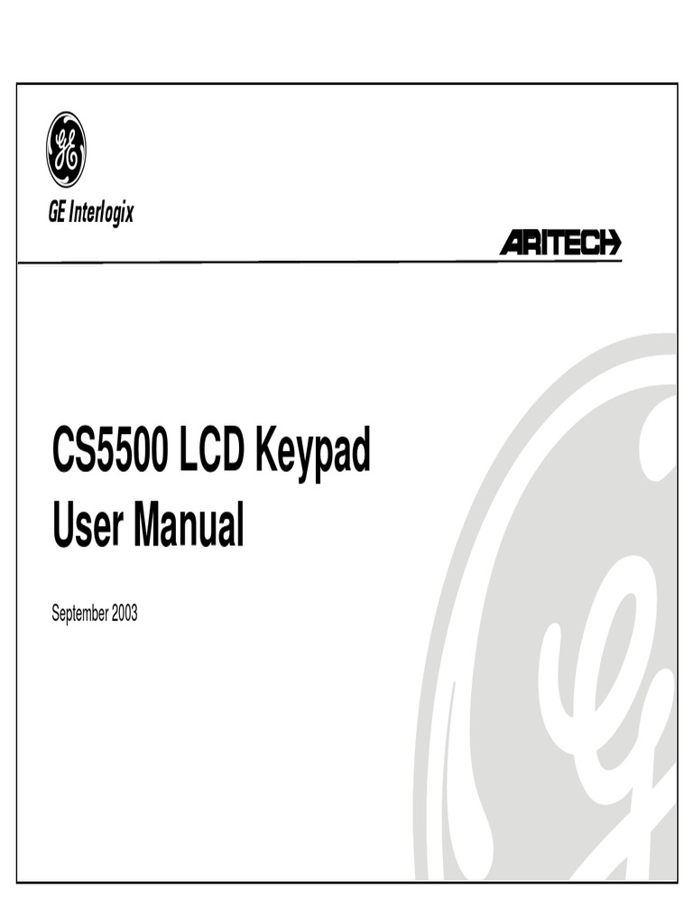 CS5500 LCD Keypad User Manual: GE Interlogix