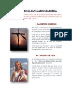 Cristo en El Santuario Celestial