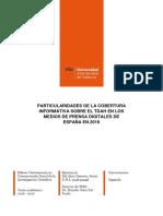 La cobertura informativa del TDAH de los medios digitales en España en 2016