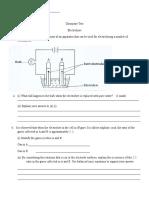 Test Electrolysis