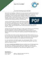 FLY & HELP-Presseinformation