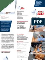 Infoflyer Arztpraxen Fit for Help Notfallmanagement