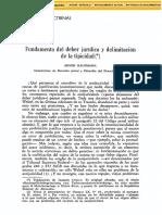Fundamento del deber jurídico y limitación de la tipicidad