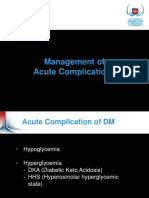 5 DM and Acute Complication Hipoglicemia, DKA, HHS