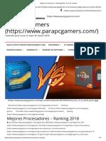 Mejores Procesadores – Ranking 2018 – Para PC Gamers